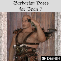Barbarian Poses For Ivan 7 And Genesis 3 Males