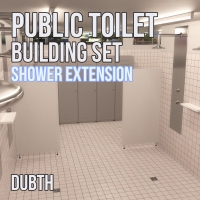 Public Toilet Building Set: Shower Extension