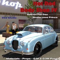 Hot Rod Body Shop Series 4 For Daz Studio Limousine Prince