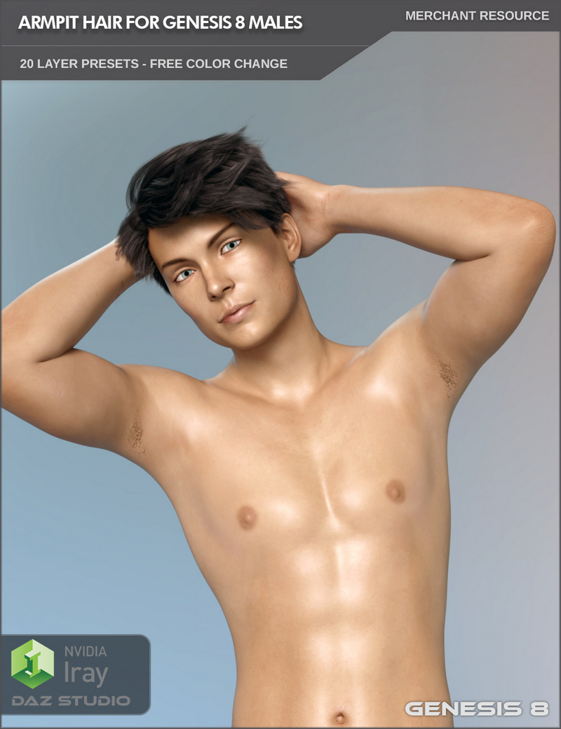 Armpit Hair For Genesis 8 Males And MR