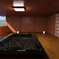 Hot Spring Room And Pose For G8F