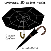 Umbrella 3D Object Model
