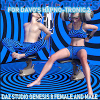 Hypnotic Poses For Davo Hypno-Tronic 2 Daz Studio
