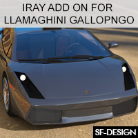 Add On For Llamaghini Gallopngo By Mattymanx (Iray Extension)